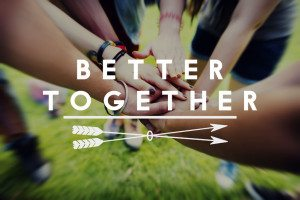 57555470 - better together connection corporate teamwork concept