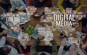 53957814 - digital media shares internet investment link plans concept